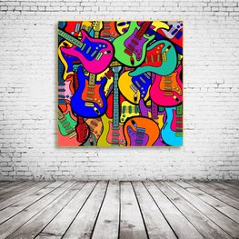 Electric Guitars Pop Art
