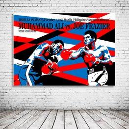 Ali versus Frazier Pop Art