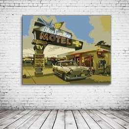 Route 66 Motel Art
