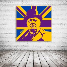 Winston Churchill Pop Art