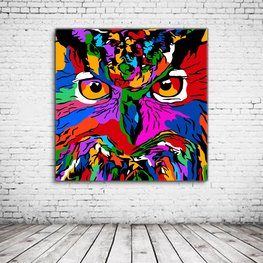 Wall Art Colorful Owl