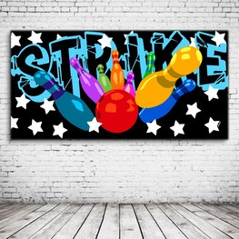 Strike Bowling Pop Art