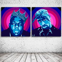 Pop Art Duo Tupac Shakur & Notorious BIG