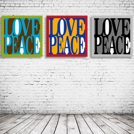 Love Peace Pop Art