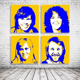 Pop Art ABBA x4