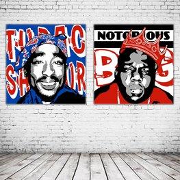Pop Art Duo Tupac Shakur & Notorious BIG