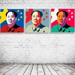 Pop Art Mao x3
