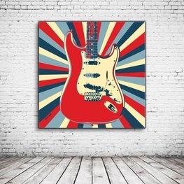 Pop Art Retro Electric Guitar
