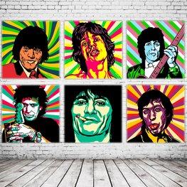 Pop Art Rolling Stones x6