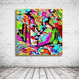 Pop Art Kissing Girls