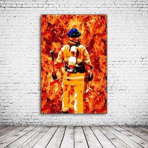 Wall Art Firefighter Hero