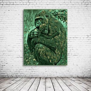 Gorilla & Baby Art