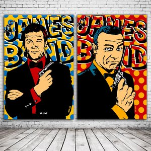 James Bond 2x Pop Art