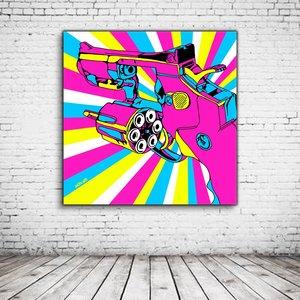 Pop Art Pink Gun